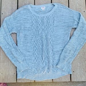 Mossimo thick grey cable knit sweater size large